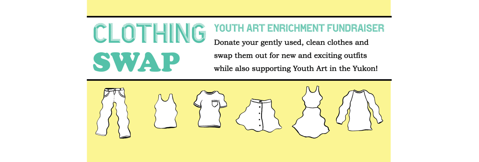 Clothing Swap! Feb 16th! A Youth Art Enrichment Fundraiser!