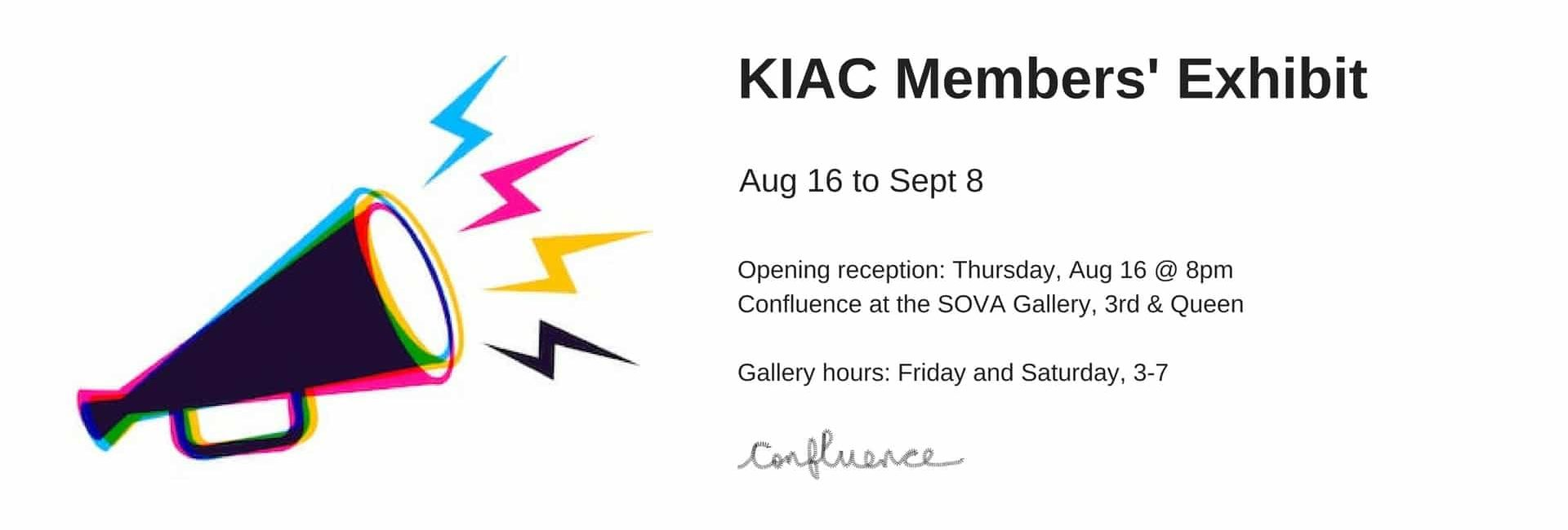 Confluence Opening: Thursday, August 16 @ 8pm